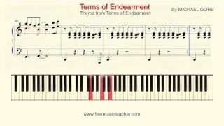 "How To Play Piano: ""Theme from Terms of Endearment"" Michael Gore Piano Tutorial by Ramin Yousefi"