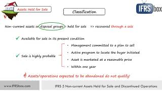 IFRS 5 Non current Assets Held for Sale and Discontinued Operations