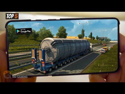 🔥TOP5🔥REALISTIC TRUCK  SIMULATOR ANDROID GAMES 2020 | OFFLINE SIMULATOR GAMES【MD Gaming】
