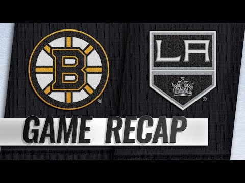 McAvoy breaks tie with late goal, Bruins top Kings