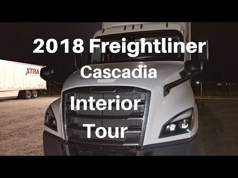 Interior tour of my NEW 2018 Freightliner Cascadia!