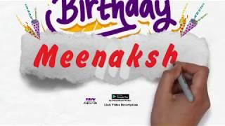 Happy Birthday Meenakshi