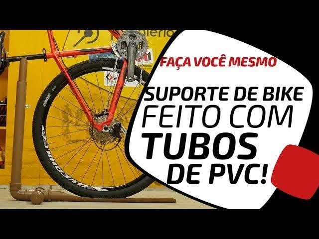 Faça você mesmo um suporte de bike em PVC. Pedaleria