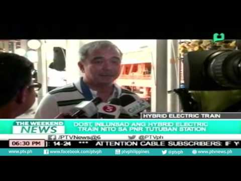 [Weekend News] DOST, inilunsad ang hybrid electric train sa PNR tutuban station [06|26|16]