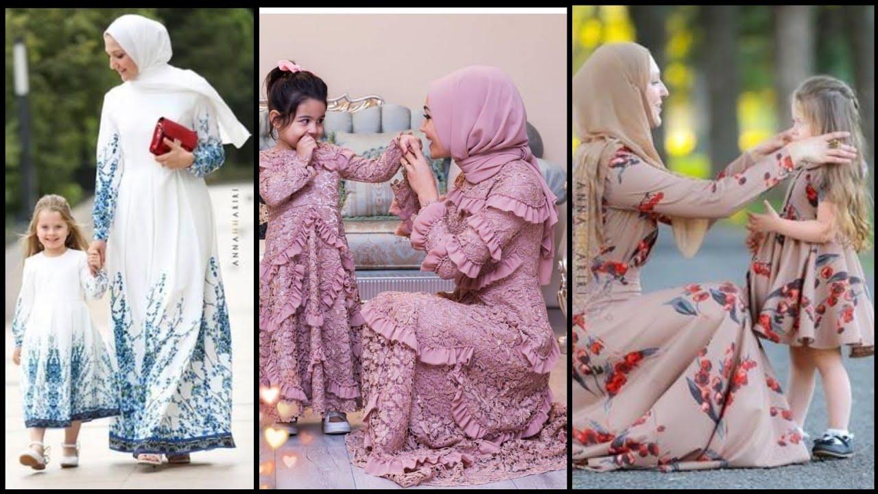 Muslim Moms & Baby Outfits Styling-Girlls hijab Style & Hijab Fashion Idea's