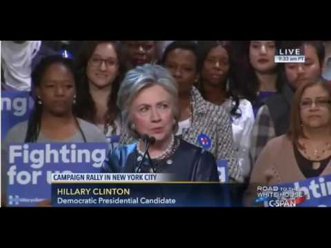 Hillary Clinton Campaign Rally Harlem, New York FULL Hillary Clinton Speech Apollo Theater