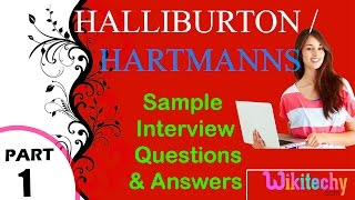 halliburton   hartmanns top most interview questions and answers for freshers experienced