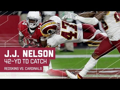 Carson Palmer Launches a 42-Yard TD Strike to J.J. Nelson! | Redskins vs. Cardinals | NFL