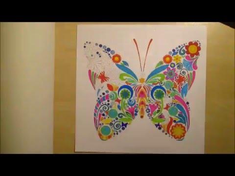 Mandala papillon - YouTube
