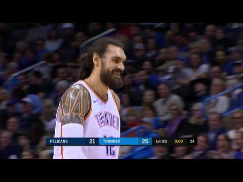 Steven Adams Fails Terribly At Euro Step Attempt vs. New Orleans Pelicans