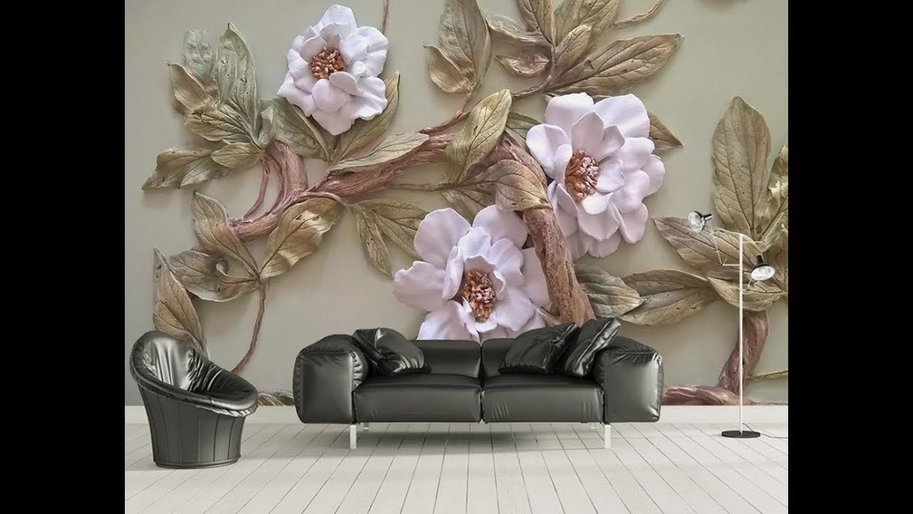 5d Mural Wallpaper For Bedroom Living Room Tv Cabinet Youtube