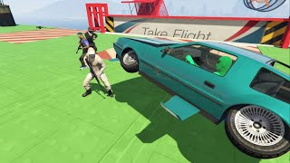 10-Player Deluxo VS Snipers Minigame - GTA V Online Funny Moments | JeromeACE