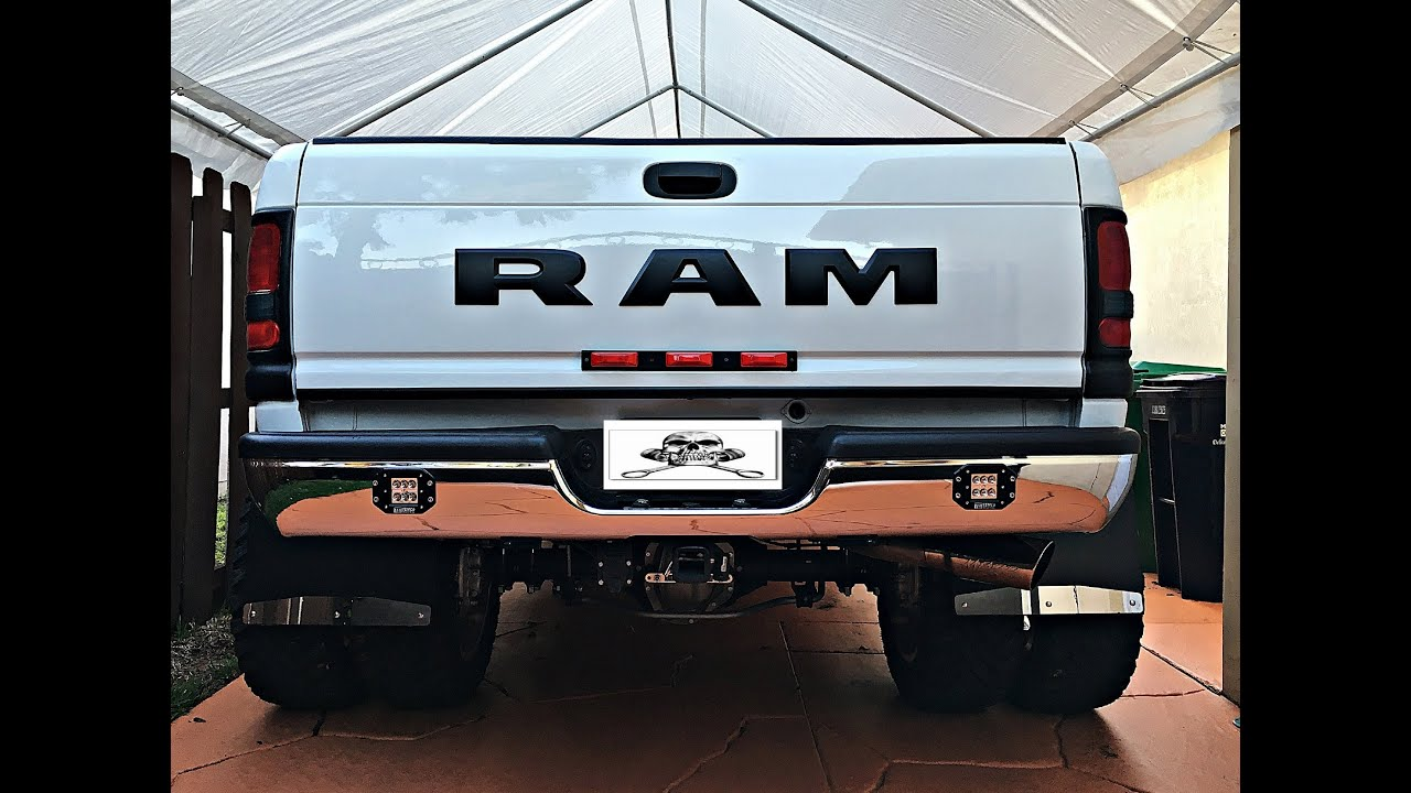 2001 Dodge Ram 2500 Bumper >> How To Customize Dodge Ram 1994-2002 Part 9: Rear Bumper: LED Flush Mounted Auxiliary Lights ...