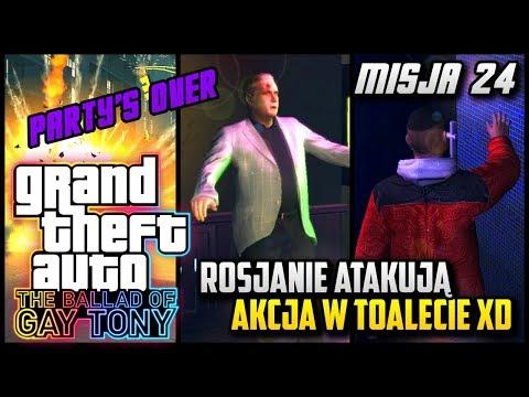 GTA The Ballad of Gay Tony #24 (Party's Over) - Klub polem bitwy + akcja w toalecie xD