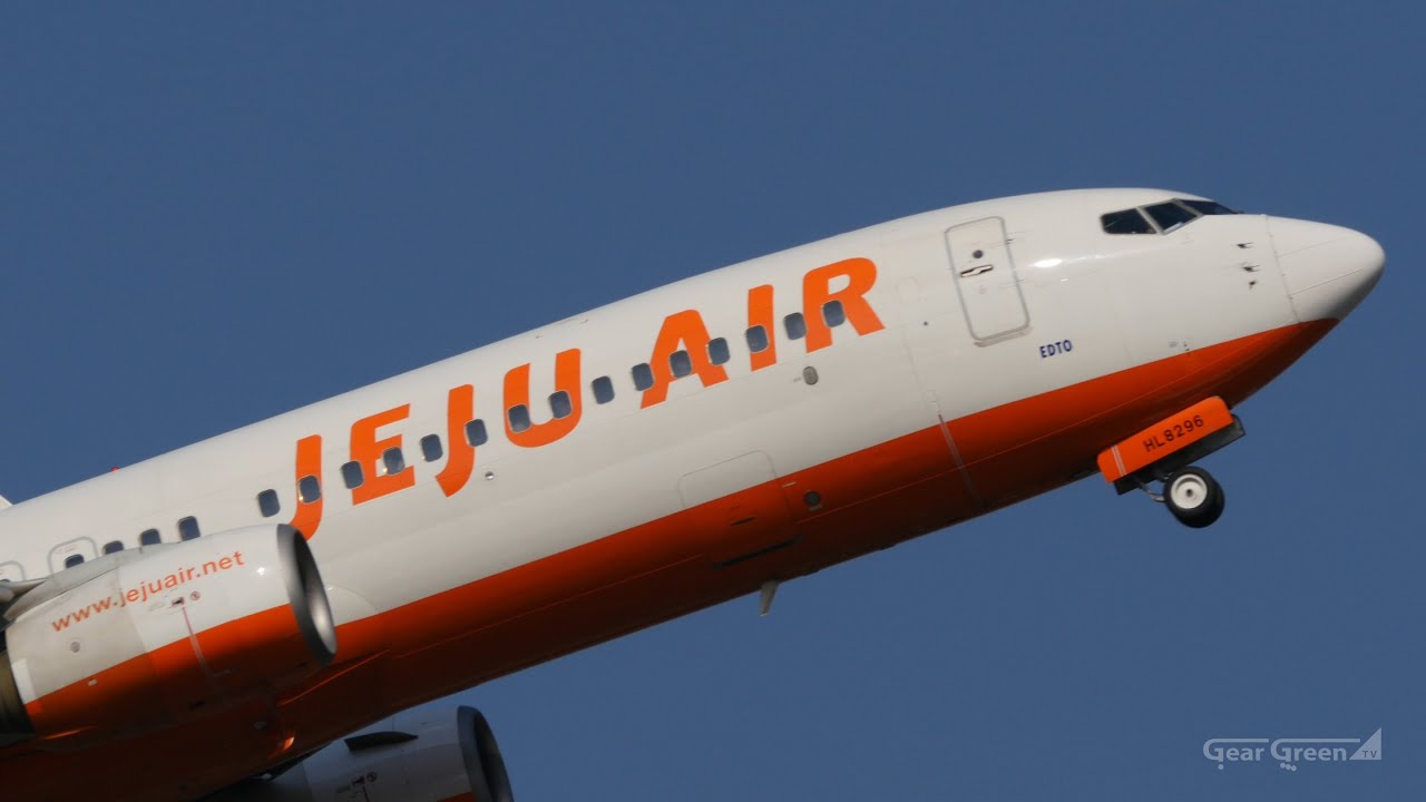 Jeju Air : B737-800 HL8296 : Takeoff - Fukuoka Airport 福岡空港 - YouTube