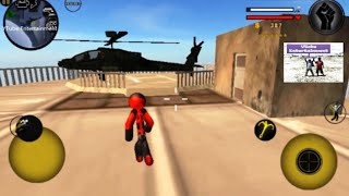 Game Android Stickman ROPE HERO Play Helicopter