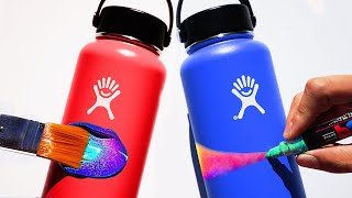 My First Custom Hydro Flasks!! - Challenge vs. ZHC (Giveaway)