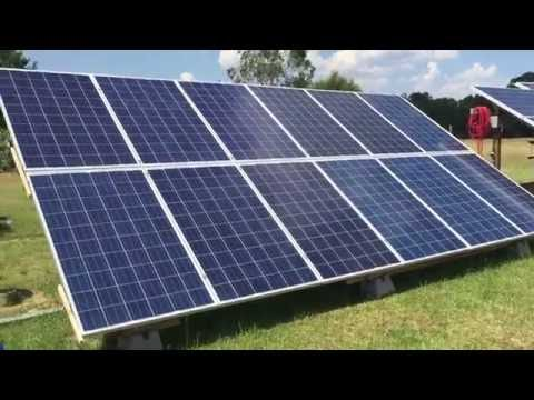 DIY Solar Panel trackable Ground Mount System 3kw