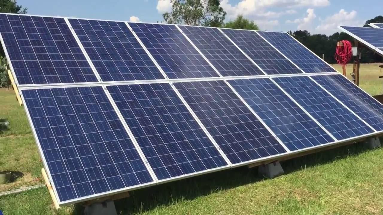 Diy Solar Panel Trackable Ground Mount System 3kw Youtube