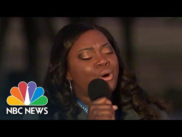 Michigan Nurse Lori Marie Key Sings 'Amazing Grace' At Covid Nationwide Memorial | NBC News
