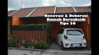 Renovasi & Dekorasi Rumah Bersubsidi Tipe 36 (6 x 11 m) dengan Warna Orange
