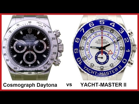 ▶ Rolex DAYTONA (40mm, black) vs. YACHT-MASTER II (44mm, white-blue) - COMPARISON
