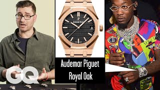 Watch Expert Critiques Celebrities' Watches (Quavo, Kanye, Rami Malek) | Fine Points | GQ