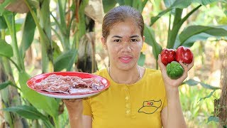 Amazing Cooking Fried Intestines Pig Spicy Delicious -  Intestines Pig Recipe  -Village Food Factory