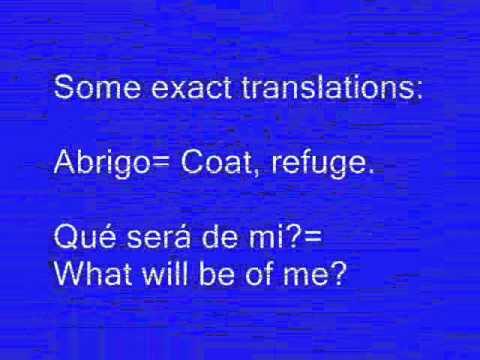 Learning Songs in Spanish Si me ves llorar por ti in English Level 2