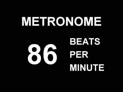 METRONOME 86 BPM BEATS PER MINUTE