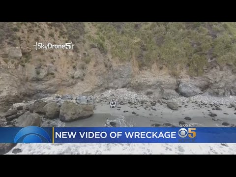 Sky Drone 5 Shows Extent Of Woman's Cliff Plunge Near Big Sur