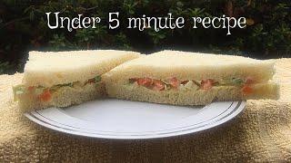 Veg Mayo Sandwich - Quick  Easy