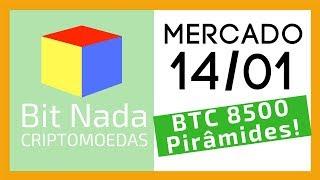 Mercado de Cripto! 14/01 Bitcoin 8.500!! 🚀 / Histórias de Pirâmides