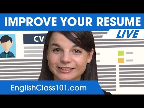 How to Improve Your English Resume? - English Business Tips