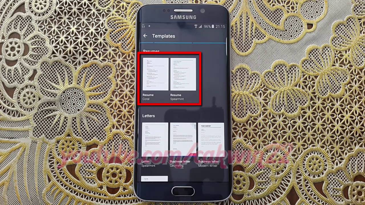 Google Docs How To Get Resume Templates On Samsung Galaxy S6 Or Edge