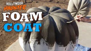 Hard Coating Styrofoam - Cheap Way To Make Foam Props Strong (Halloween Pumpkins)