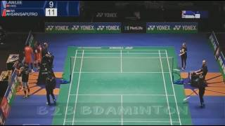 2017 yonex all england open r32 md law cheuk him lee chun hei reginald vs ahsan saputro