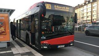 Mitfahrt auf der Linie U83 SEV von Düsseldorf Bilk S bis Düsseldorf Benrath BTF (Komplette Linie) #1