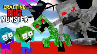 Monster School : CRAFTING SUPER MONSTER CHALLENGE- MINECRAFT ANIMATION