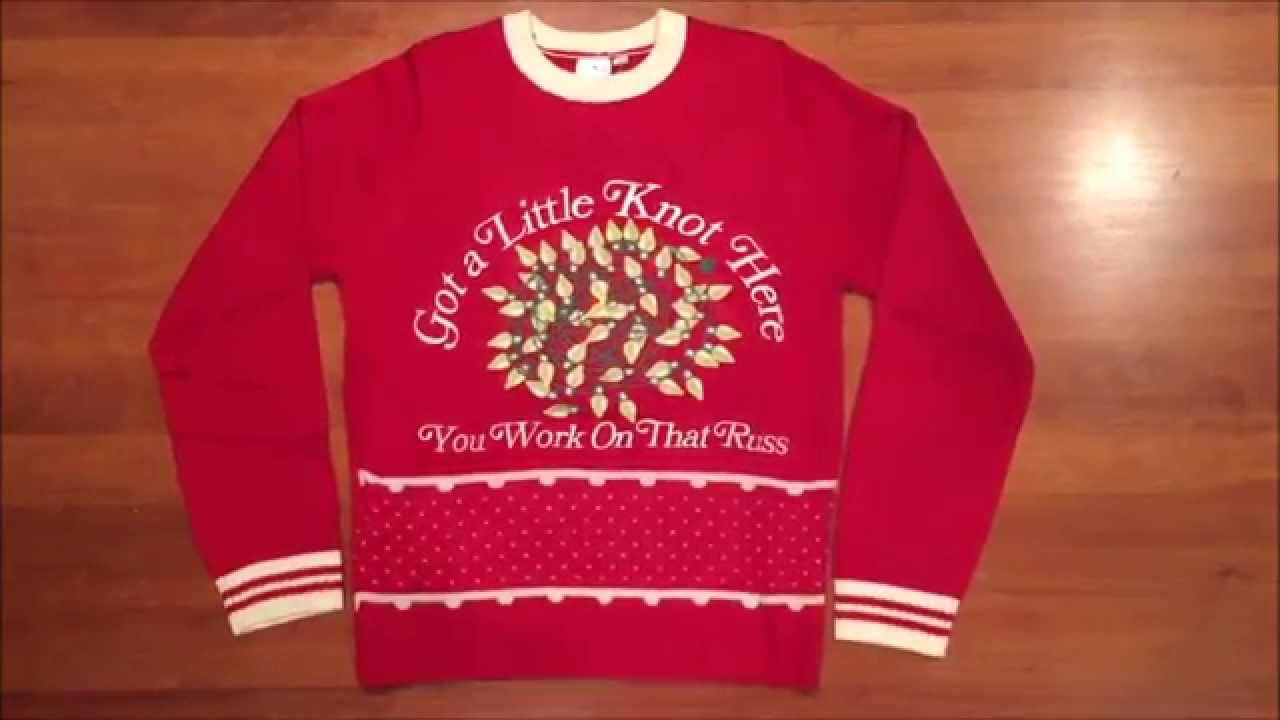 Christmas Vacation Lighted 'Got A Knot Here' Men's Ugly Christmas ...