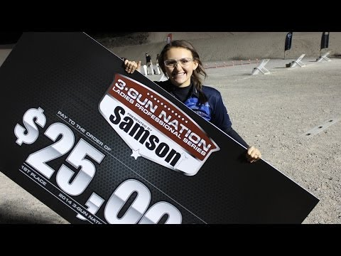 Lena Miculek Afentul wins the 2014 3-Gun-Nation SHOT show shoot-off!