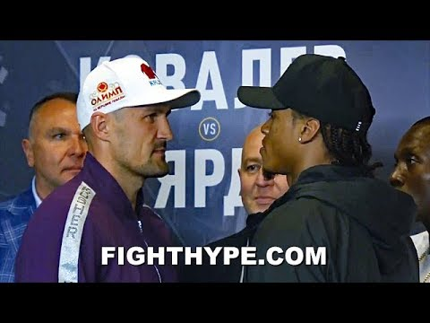 KOVALEV & ANTHONY YARDE FIRST OFFICIAL FACE OFF; SIZE EACH OTHER UP DURING INTENSE STAREDOWN
