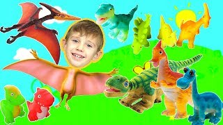 Dinosaurs cartoon for children | Playing with dinosaur toys and watch dinosaurs Animation for Kids