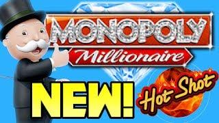 NEW Monopoly Slot Machines! Monopoly Millionaire & Monopoly Hot Shot! LIVE PLAY