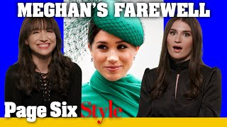 Meghan Markle sends a message with final royal fashion choices | Page Six Celebrity News