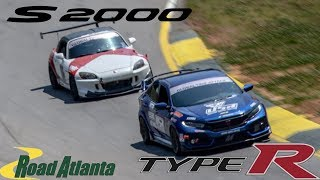 S2000 AP2 VS Civic Type R FK8! Road Atlanta Track Battle!