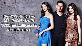 Jatt Ludhiyane Da (LYRICS) Student Of The Year 2 | Tiger Shroff, Tara & Ananya | Vishal, Payal Dev