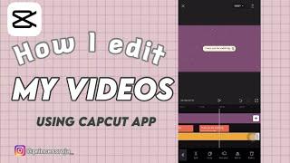 HOW I edit MY aesthetic  VIDEO USING CAPCUT APP | CAPCUT TUTORIAL screenshot 2