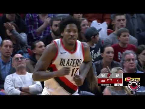 Portland Trail Blazers vs Miami Heat - Full Game Highlights - December 13 2017