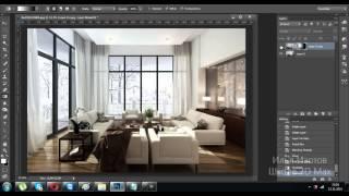 3D max + Ps.  Делаем лучи из окна в Фотошопе.Уроки в 3d max. Уроки Фотошопа. Проект Ильи Изотова.